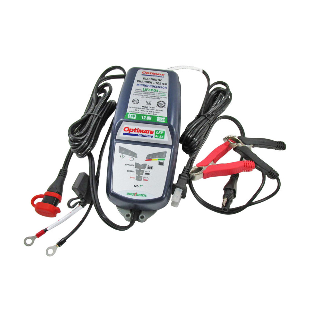 Optimate Tm 291 Lithium Ion Battery Charger 5 Amp Works With All 12 Volt Litho Batteries