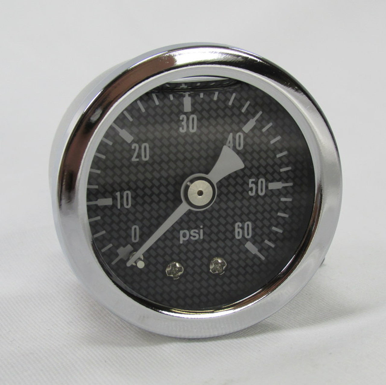 Harley BIG TWIN Oil Pressure Gauge W//Fitting USA 60 PSI Carbon Fibre