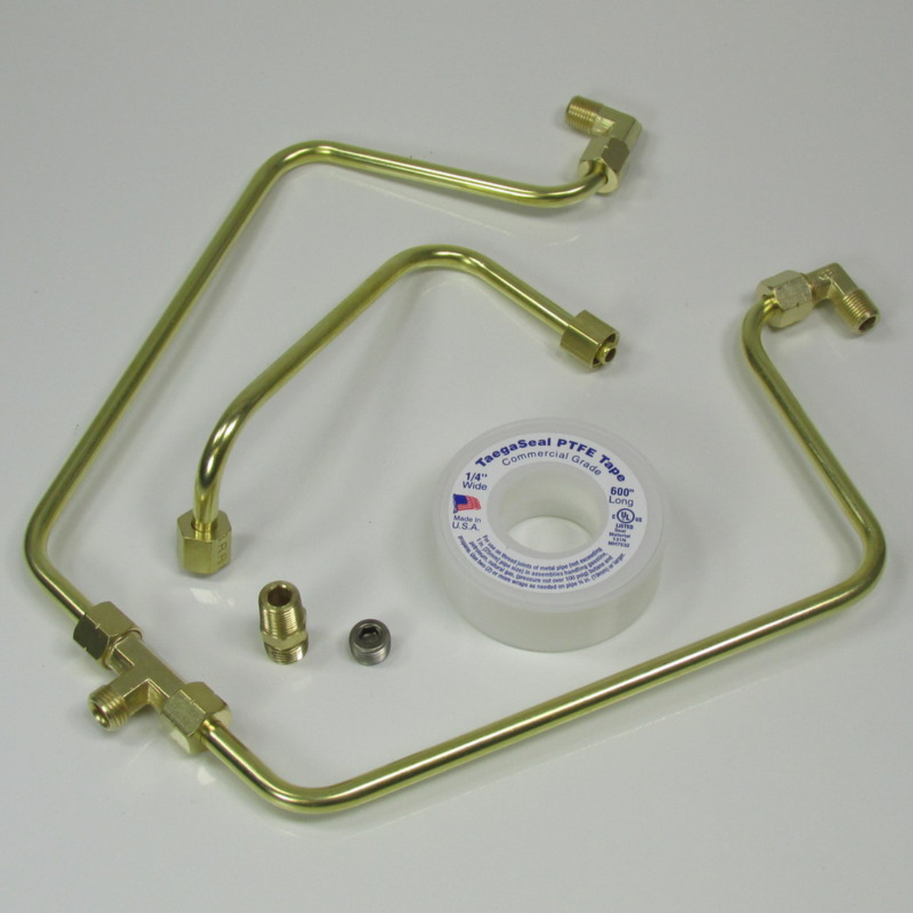 OLD-STF - Brass Rocker Box Split Oil Line for 1966-1984 Harley Shovelheads  - MADE IN THE USA