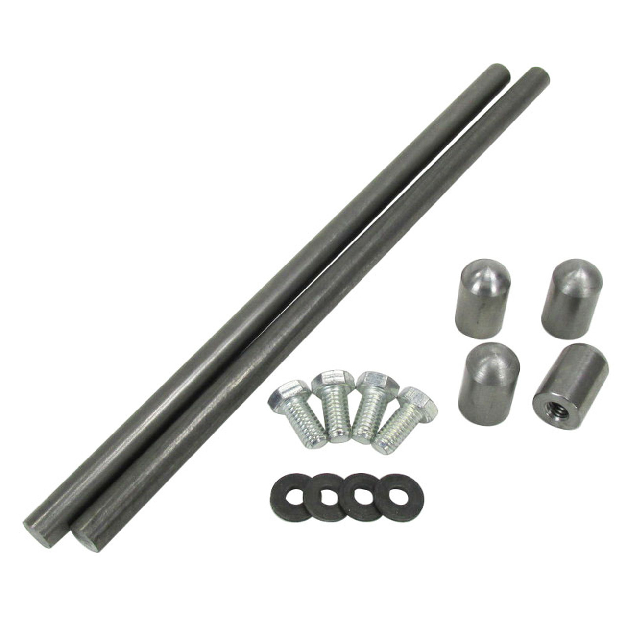 Rear Fender Strut Kit - Steel with Bungs and Hardware, Universal