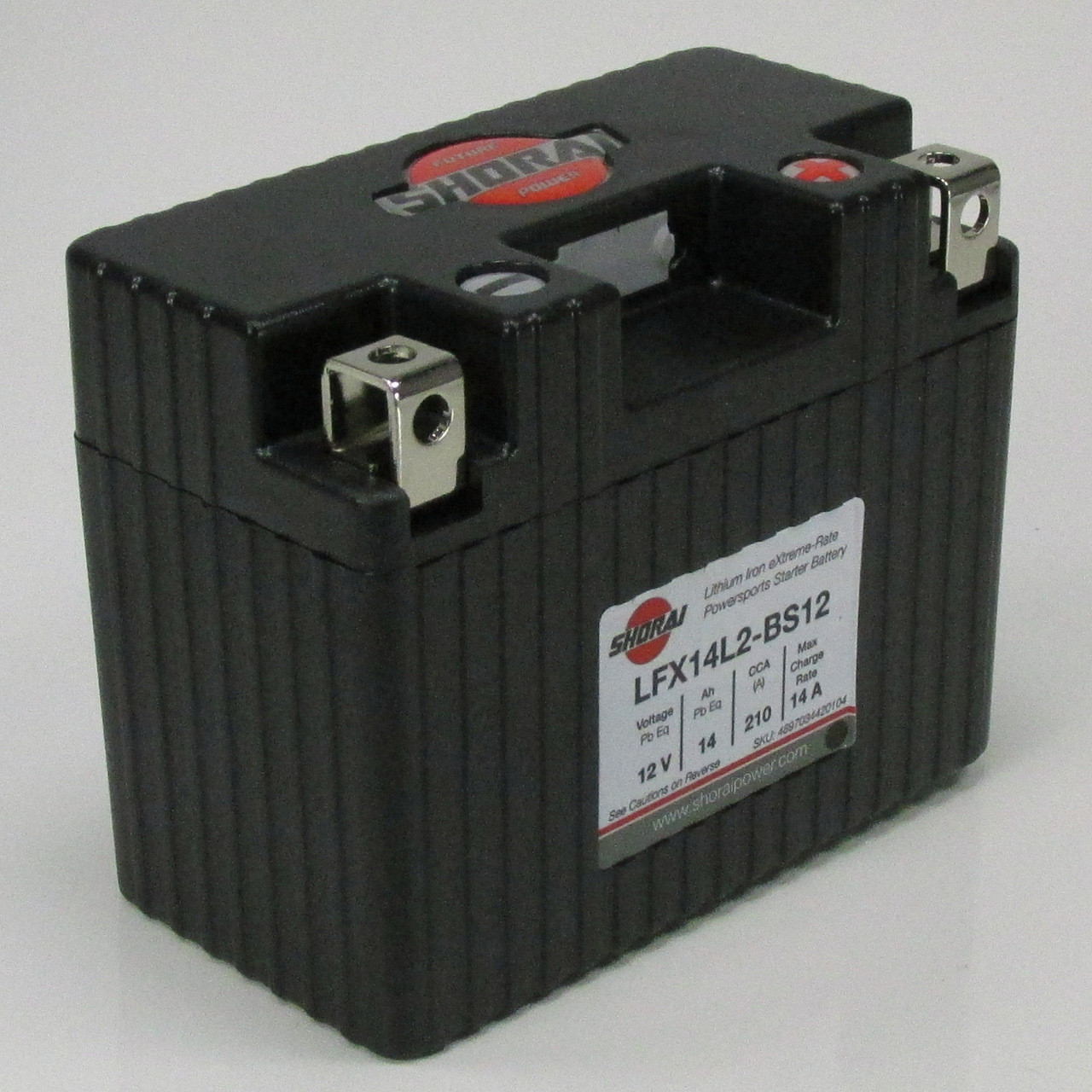 Shorai© LFX14L2-BS12 Lithium Ion Motorcycle Battery - Left Side Negative  Terminal, 210CCA, 14 Ah, 12 Volt