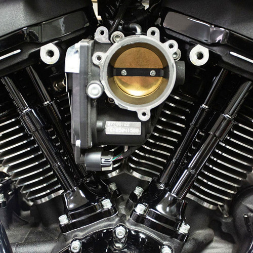 S/&S Gloss Black Pushrod Cover Kit for Harley Twin Cam and M8 Models