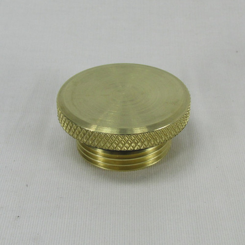 Polished Brass Fuel cap with flange