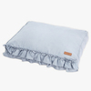 Linen Frill Flat Bed Blue (Large)