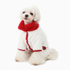 Two-tone boa warm-up suit (red)