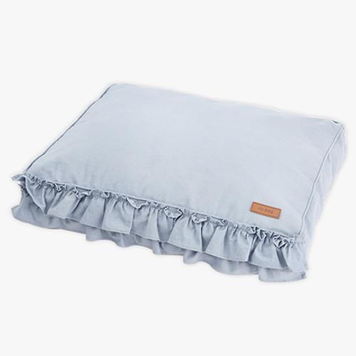 Linen Frill Flat Bed Blue (Medium)