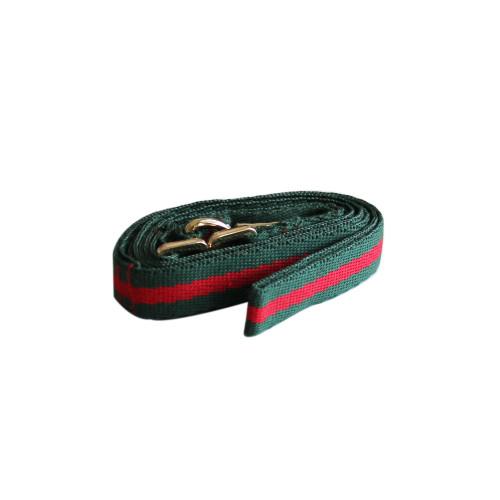 Handmade leash (red stripe)