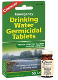 Coghlans Drinking Water Tablets 7620 056389076204
