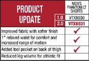 VertX Mens Phantom LT Shorts 2.0 8031