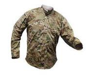Vertx L/S NYCO MultiCam Gunfighter 50percent Nylon/50percent Cotton Shirt 8220MC