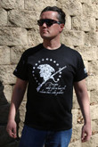LAPG Mens Violence Solves Problems T-Shirt VIOLENCE