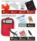 North American Rescue Public Access Bleeding Control Clear Starion-8-Pack-Nylon PABCCS-NYLON