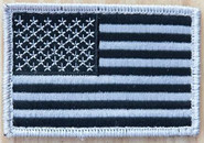 Nine Line Black And White American Flag Patch USAFLAGB-WPATCH 190741523347