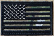 Nine Line Black Camo American Flag Patch USFLAG-DMC 190741429786