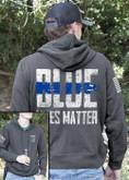 Nine Line Blue Lives Matter Light Weight Tailgater Hoodie BLM2-LWTGS