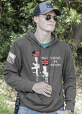 Nine Line Brothers in Arms Dual Rifle US/British Light Weight Tailgater Hoodie BIADR-LWTGS