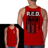 Nine Line RED Remember Everyone Deployed Jersey Tank RED-MTT