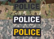 Mil-Spec Monkey Police 10 x 3 Patch POLICE-10X3