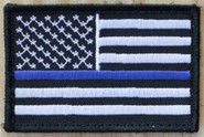Nine Line Thin Blue Line - Black And White Patch TBLBWPATCH