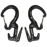 Nite Ize Figure 9 Carabiner Small Black 2pk with Rope C9S-03-TP01 094664010178
