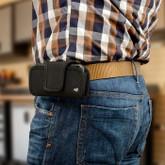 Nite Ize Fits All XL Black Horizontal Phone Case worn