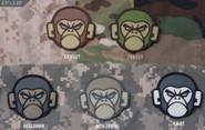 Mil-Spec Monkey Head PVC Patch MONKEYHEAD-PVC