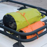 Nite Ize Gear Tie Reusable Rubber Twist Tie 64 in. - bright orange on roofrack