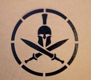 Mil-Spec Monkey Spartan Helmet Stencil ST-SPARTANHELMET