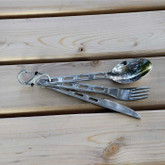 Nite Ize S-Biner SlideLock Stainless Steel #2 - Stainless with silverware
