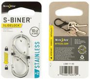 Nite Ize S-Biner SlideLock Stainless Steel #2 - Stainless packaging
