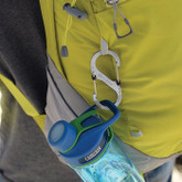 Nite Ize S-Biner SlideLock Stainless Steel Combo 3 Pack - Stainless on backpack