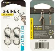 Nite Ize S-Biner MicroLock Stainless Steel - 2 Pack - Stainless packaging
