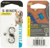 Nite Ize S-Biner TagLock Stainless Steel stainless finish