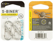 Nite Ize S-Biner Stainless Steel Dual Carabiner #1 - 2 Pack stainless