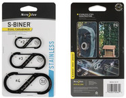 Nite Ize S-Biner Stainless Steel Dual Carabiner Combo 3 Pack - Black