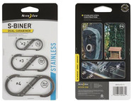 Nite Ize S-Biner Stainless Steel Dual Carabiner Combo 3 Pack - Stainless feature