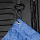 Nite Ize S-Biner SlideLock Stainless Steel Combo 3 Pack - Black holding tarp