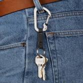 Nite Ize SlideLock Key Ring Stainless Steel worn