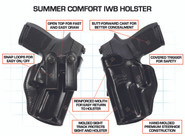 Galco Summer Comfort IWB Holster features
