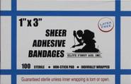 Elite First Aid 1x3 Strip Adhesive Bandage - Box of 100 560B