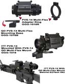 GGandG PVs-14 Quick Detach Multi-Flex Night Vision Mount 1016 813157000201
