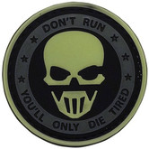5ive Star Gear Don't Run Ghost Night Glow Morale Patch