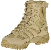 """Merrell Moab 2 8"""" Tactical Waterproof Boot Coyote front angled"""