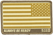 5.11 Tactical USA Reversed Flag Woven Patch 81293 81293