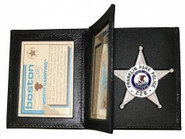 Boston Leather 122 Book Style Badge Case with 2 ID 122-S