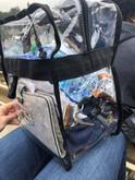LA Police Gear Tac Supply Clear Stadium Backpack CBG01 840041761634