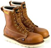 "Thorogood Men's American Heritage 8"" Waterproof Composite Safety Toe  Wedge Boot 804-4210- Side"