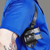 Galco HCL Shoulder System Mag Carrier black worn