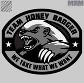 Milspec Monkey Honey Badger Patch HONEYBADGER