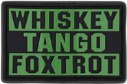 Condor Whiskey Foxtrot PVC Patch 181007